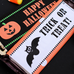 Free Printable Halloween Candy Bar Wrappers-Great for parties or as a fun gift
