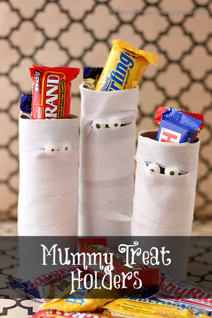 Mummy Treat Holders www.ilovemydisorganizedlife.com