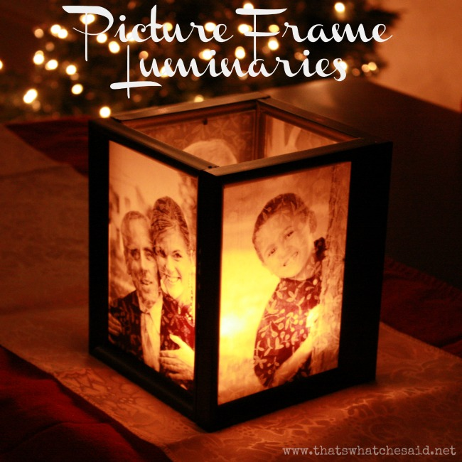 25 creative christmas gift ideas that cost under 10 crazy little picture frame luminaries pamper yourself gift solutioingenieria Gallery