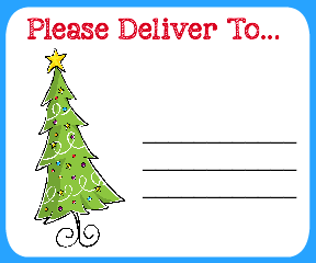 Free printable christmas shipping labels for Printable christmas address labels