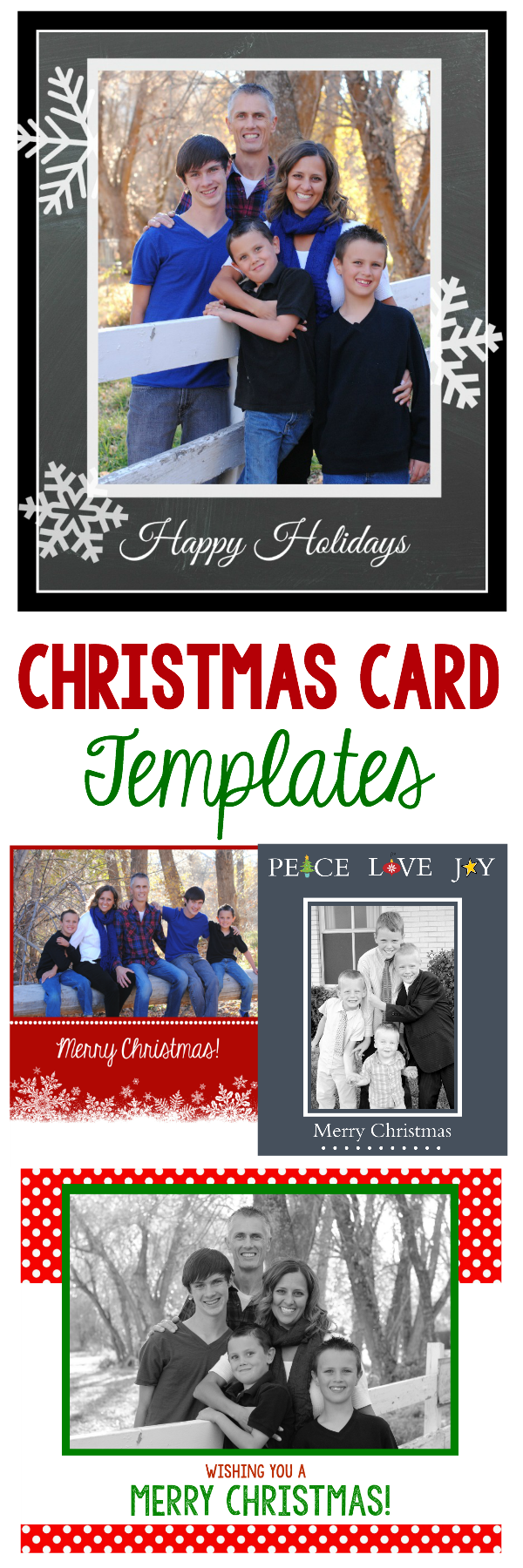 Free Christmas Card Templates.Free Christmas Card Templates Crazy Little Projects