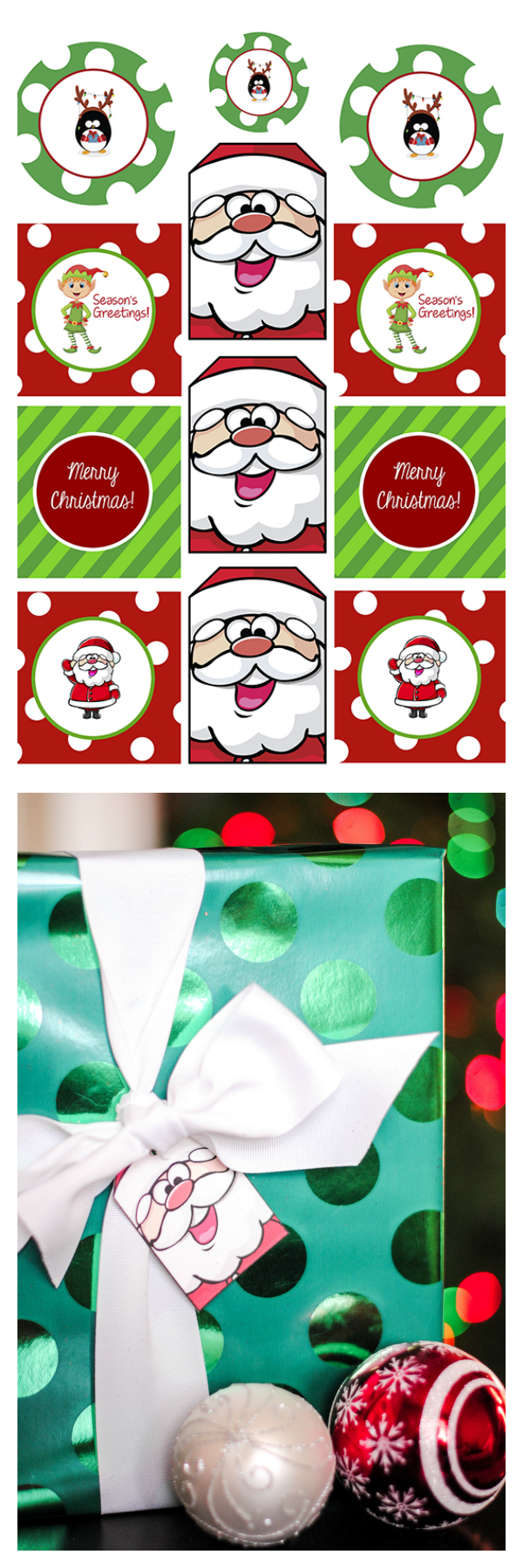 Free Printable Christmas Gift Tags-Just print and use them on your holiday packages this year! So easy and cute!