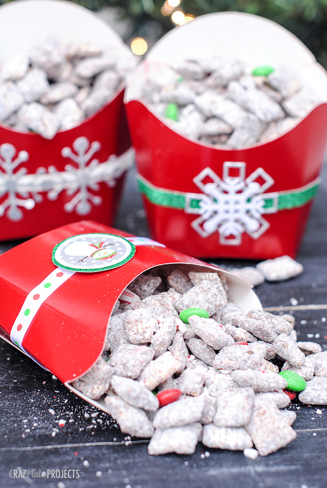 Candy Cane Muddy Buddies Christmas Gift Idea