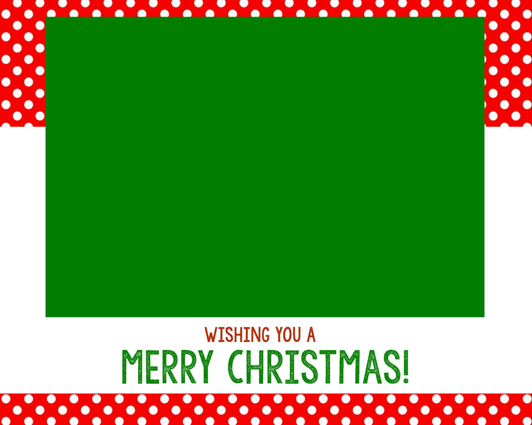Use This Christmas Card  Christmas Template Free