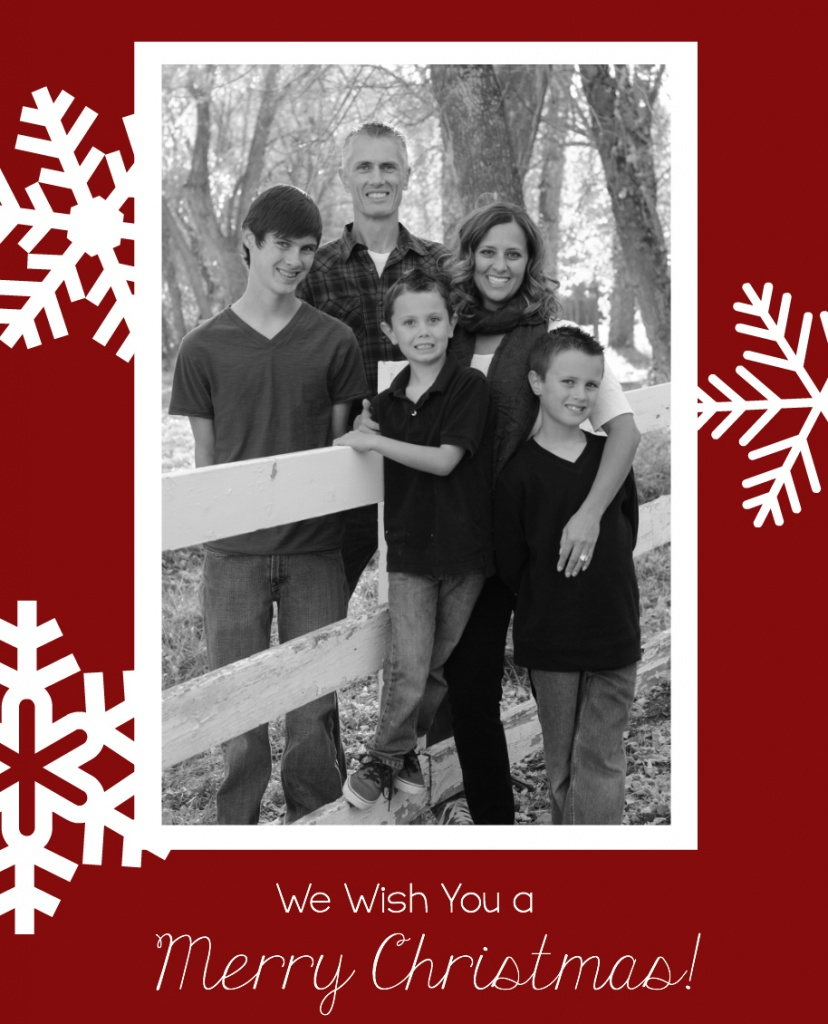 Snowflake Christmas Card Template