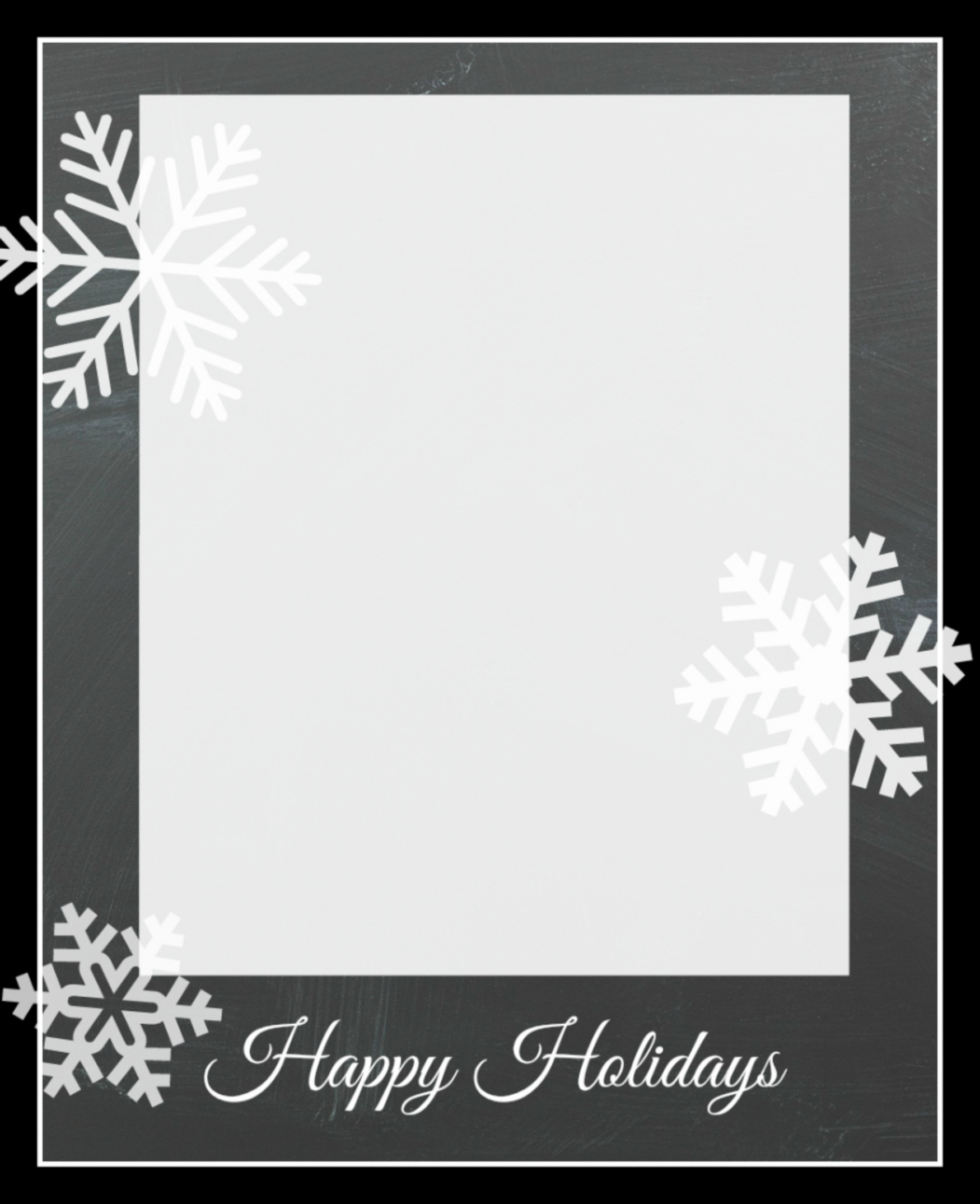 free christmas card template heres the file to save then add your pictures snowflakecard3 - Free Photo Christmas Card Templates