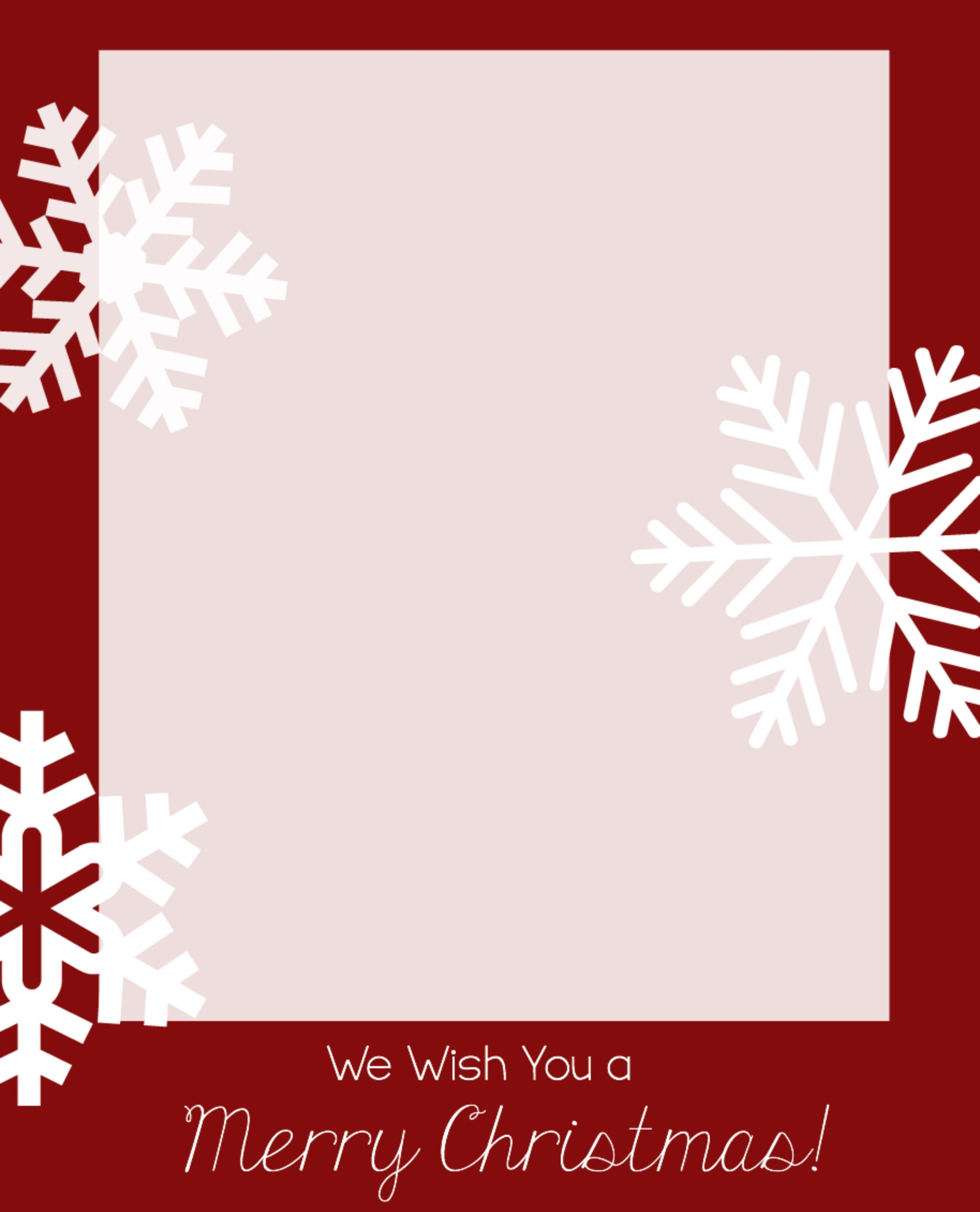 christmas card template word