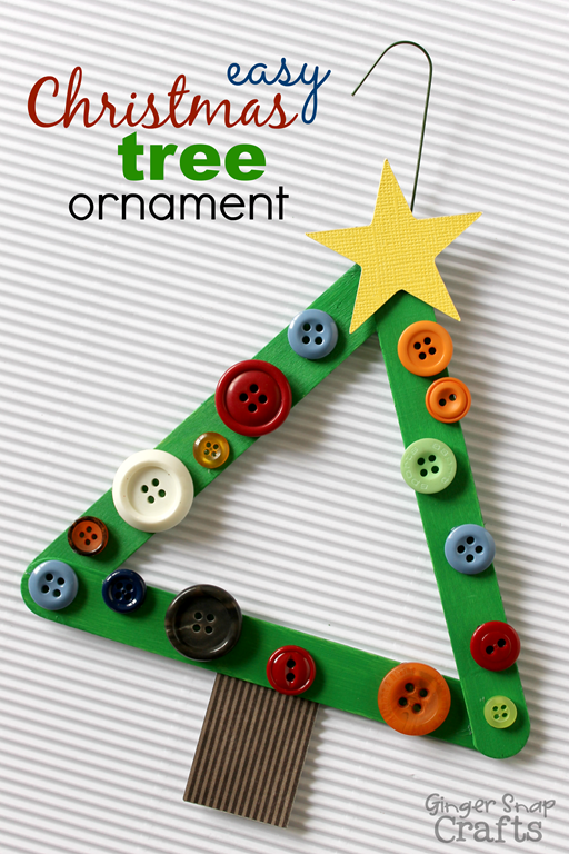 easy christmas tree ornament from gi5 - Christmas Decoration Craft Ideas