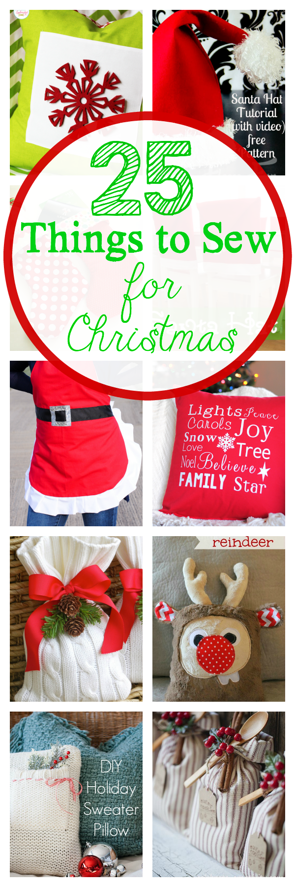25 Things to Sew for Christmas