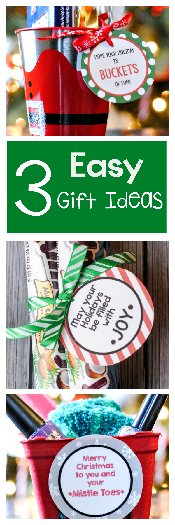 3 Easy Christmas Gift Ideas for Friends, Neighbors or Co-workers this holiday season! Simple ideas that your friends will love #christmasgiftideas