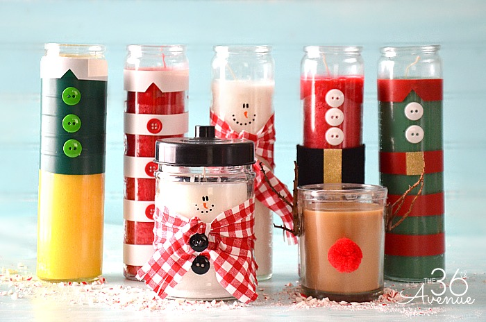 Christmas-Gift-Candles-Tutorial-the36thavenue.com- - 25 Fun & Simple Gifts For Neighbors This Christmas