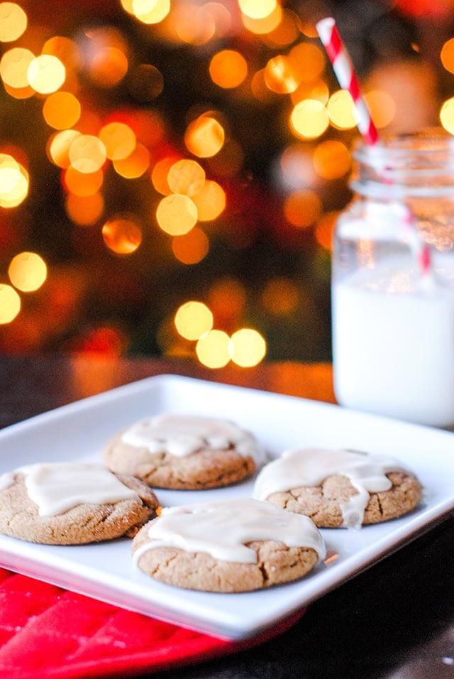 Glazed Spice Cookies