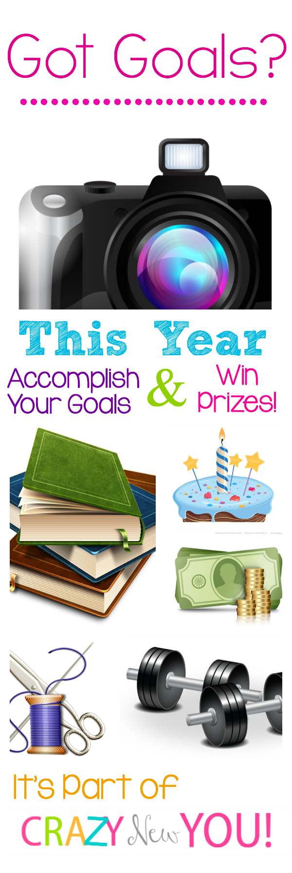 Join the New Year's Challenge! Set your own goals, enter to win fun prizes!!