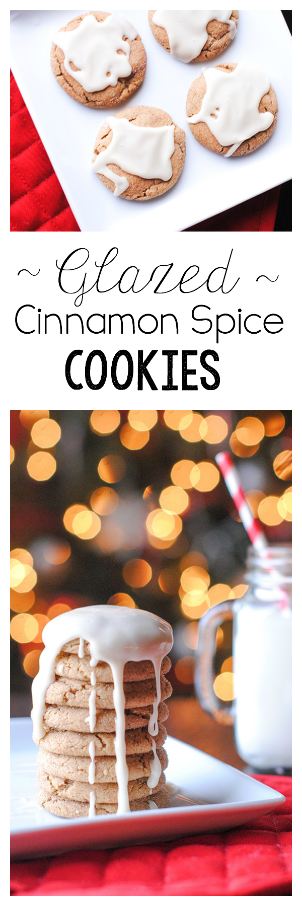 Glazed Cinnamon Spice Cookies
