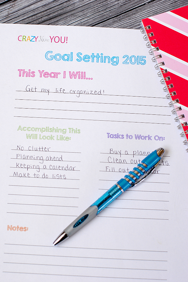 Goal Setting Worksheet & Tips - Crazy Little Projects