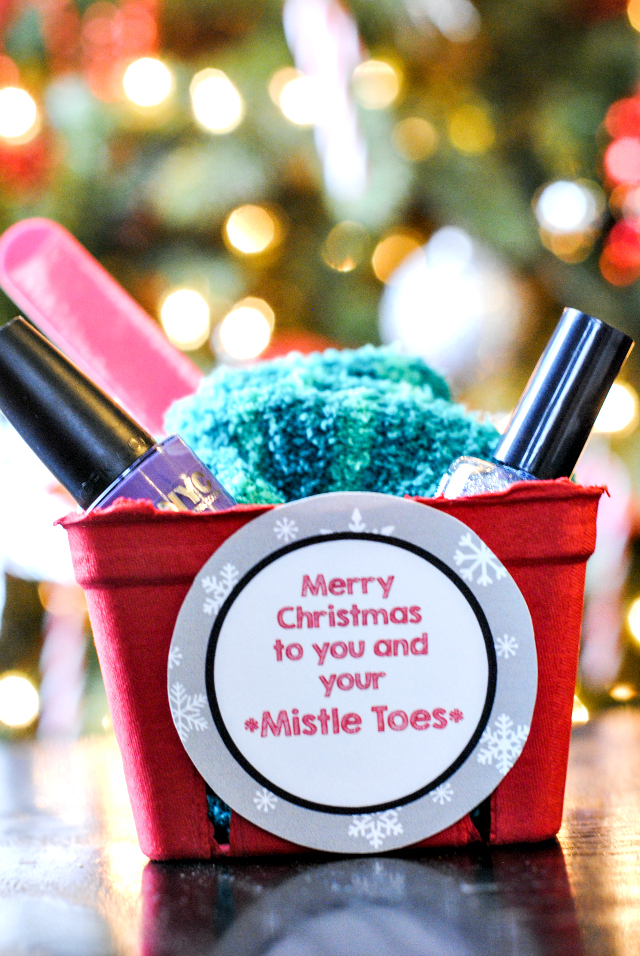 MistleToes Gift Idea and Printable Tag - 3 Easy Christmas Gift Ideas For Friends - Crazy Little Projects