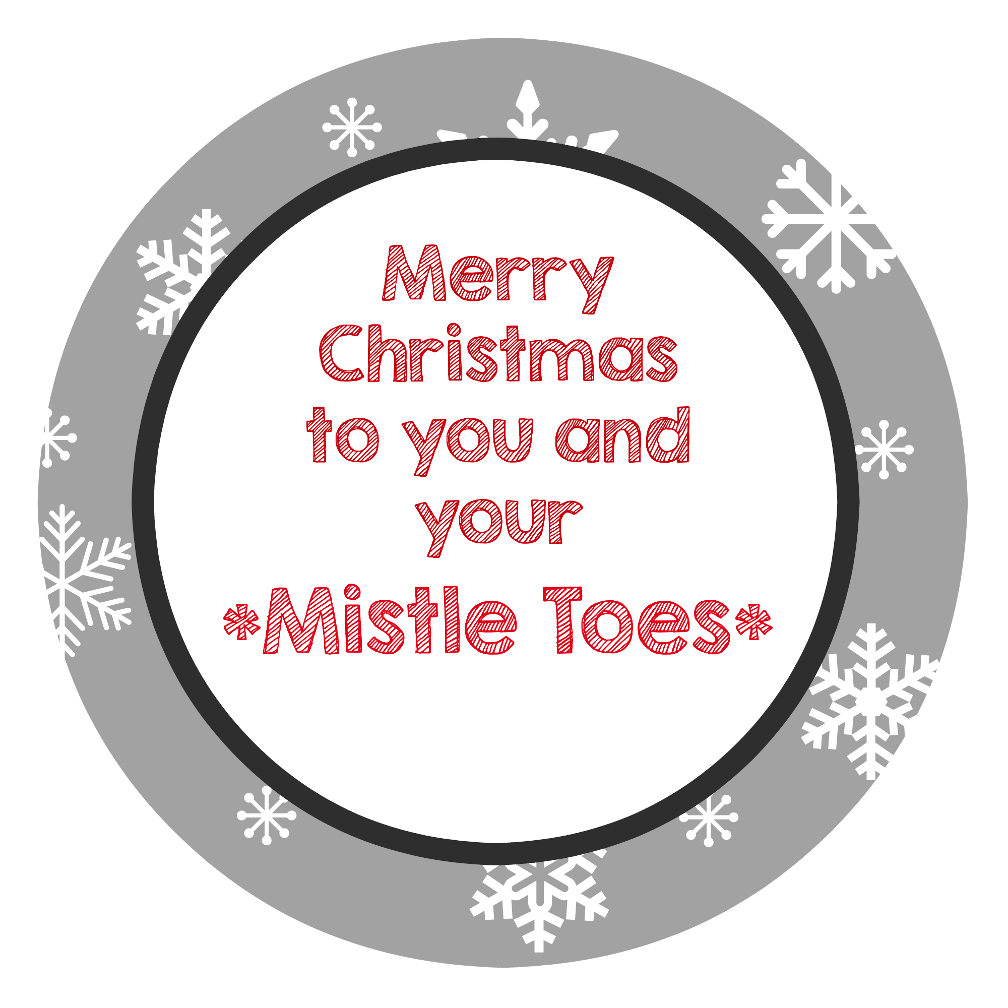 image about For Your Mistletoes Printable called 3 Simple Xmas Reward Recommendations for Buddies - Outrageous Very little Jobs