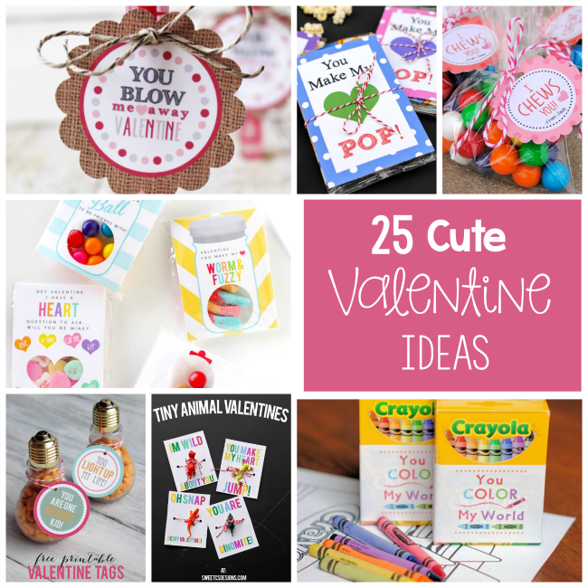 25 Cute and Creative Valentine Cards and Ideas to print and use this year.