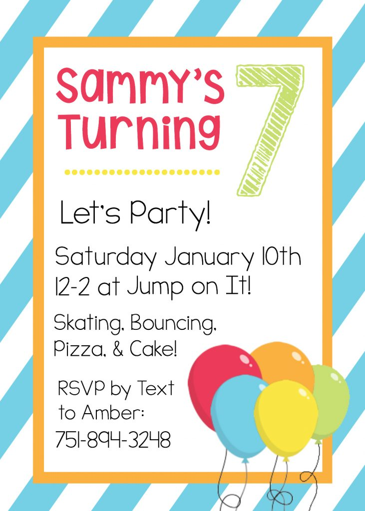 Delightful Free Printable Birthday Invitations Regard To Free Birthday Invitations Templates For Kids
