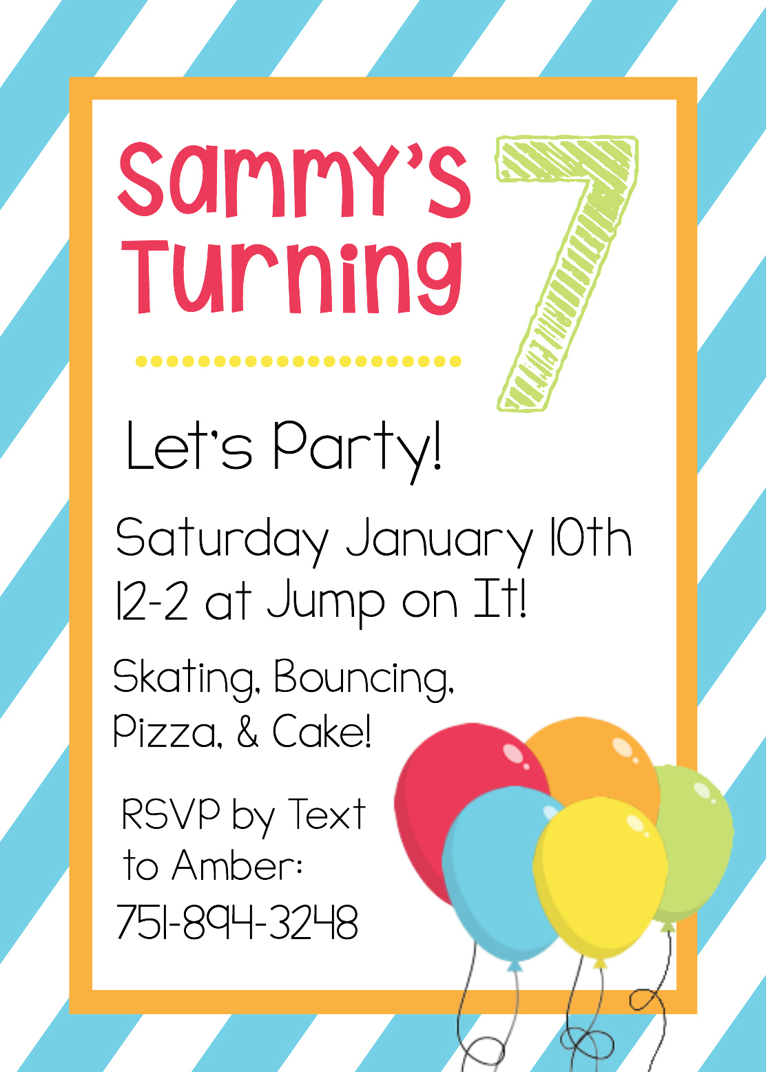 Kids Party Invite Template Lexu Tk