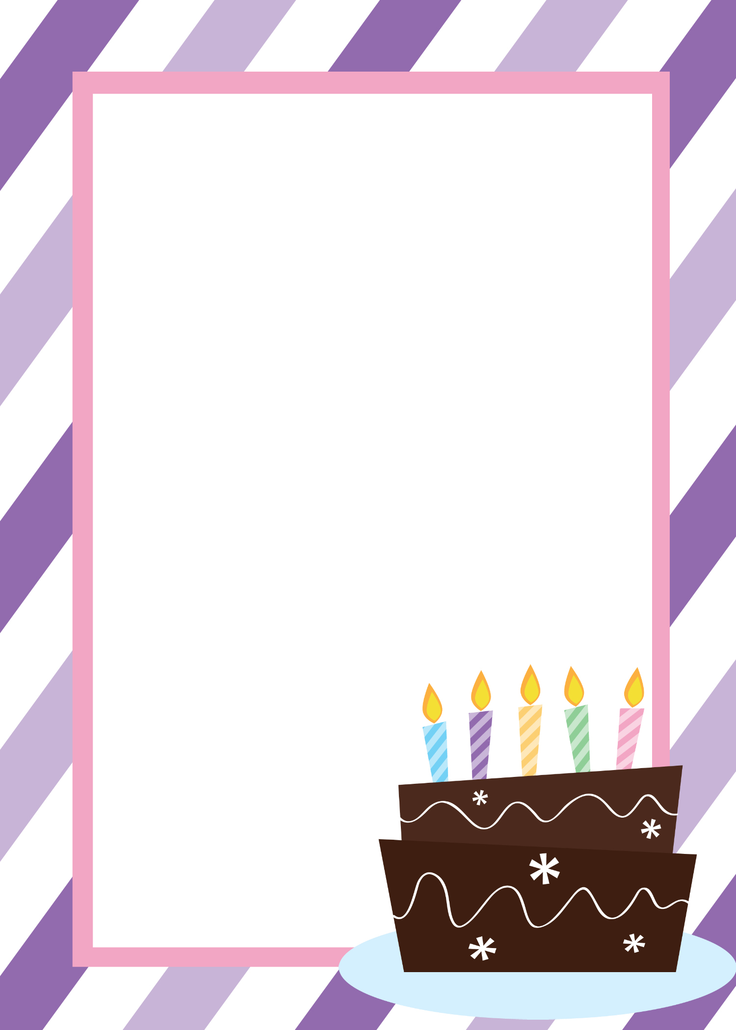 Printable Birthday Invitation Templates – Birthday Party Card Template