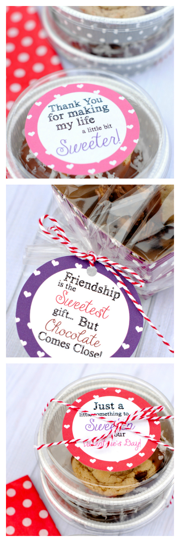 Cute Gift Tags to package Valentine's Treats for friends-Just print these cute tags and add them to any treat for a fun and sweet Valentine's gift for anyone! #valentinesday