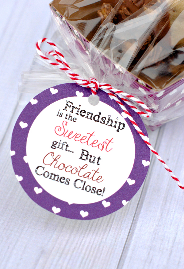 Fun gift tag for friends