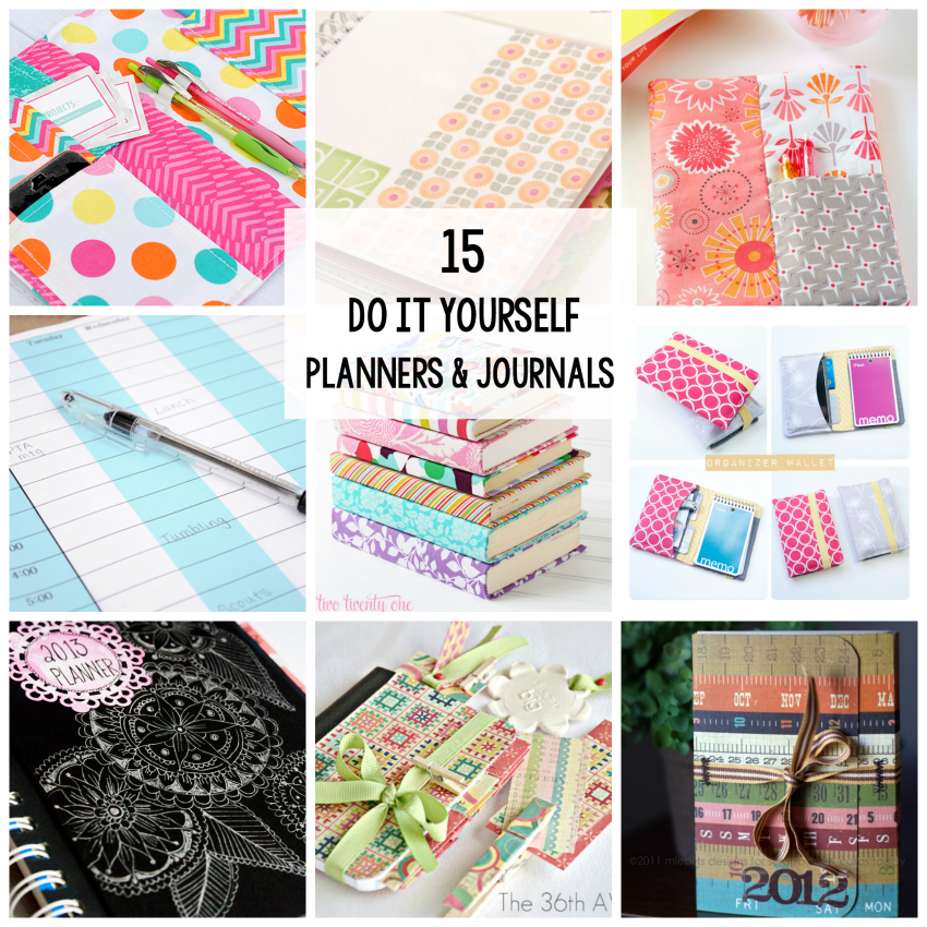 15 DIY Journals and Planners