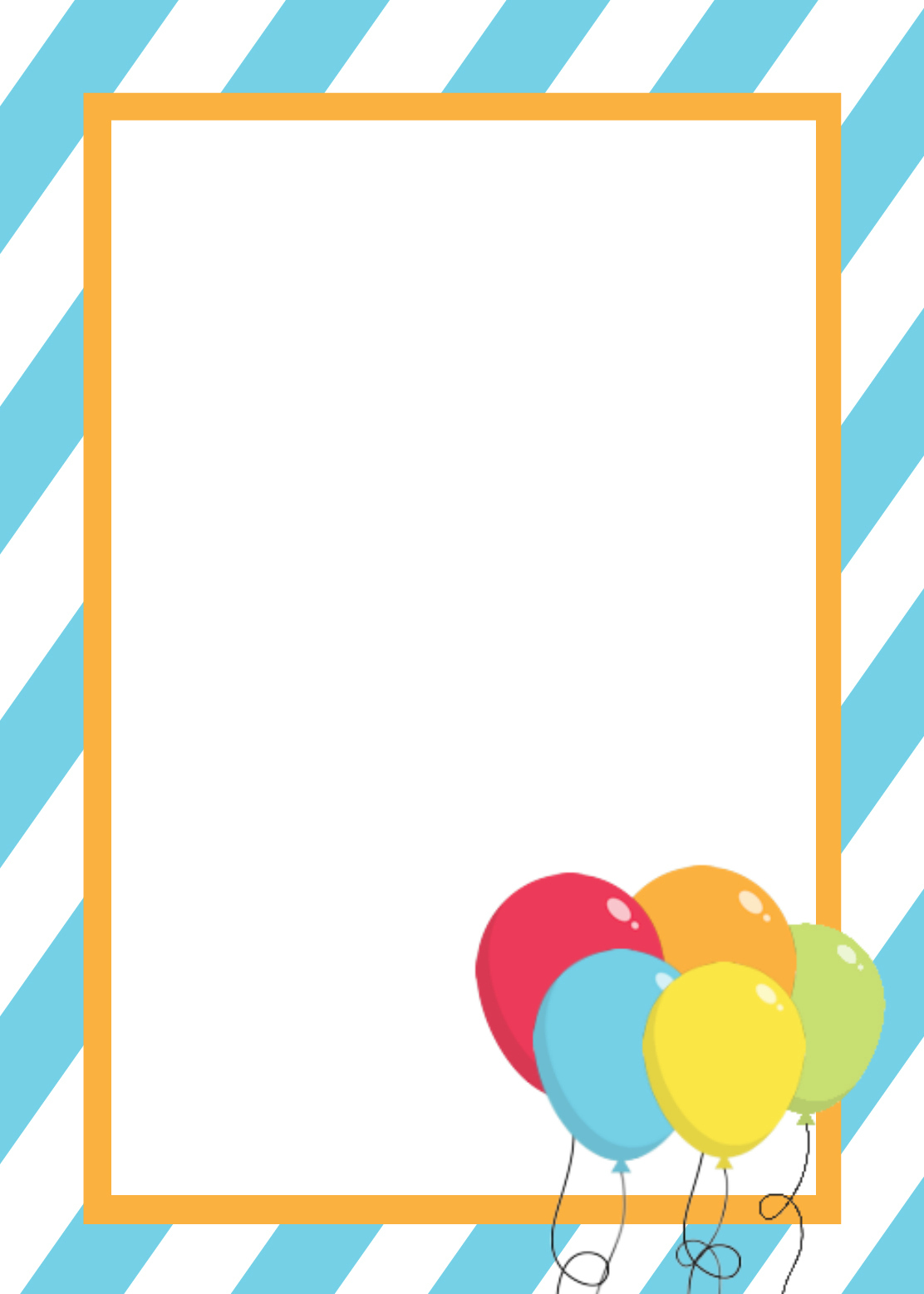 Free Printable Birthday Invitation Templates - Blank birthday invitation card templates
