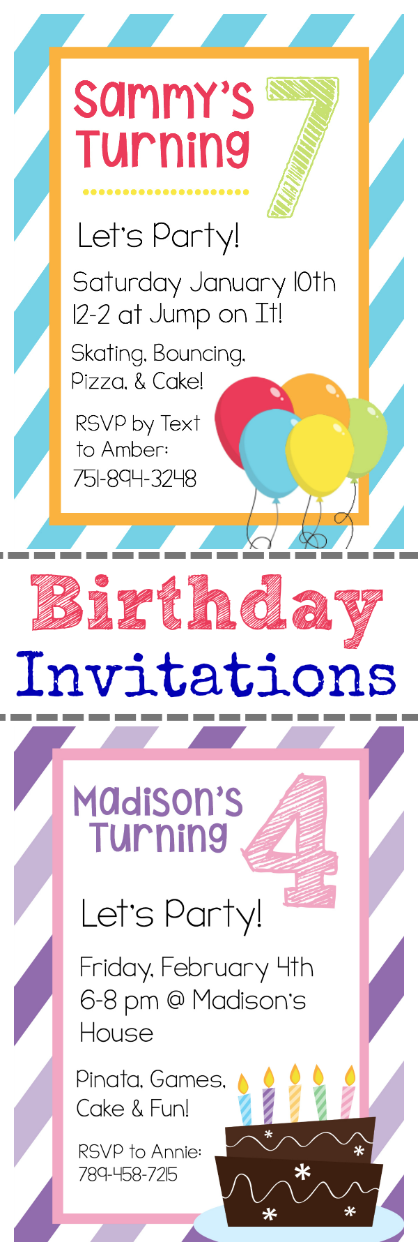 Free printable birthday invitation templates free printable birthday invitations and instructions on how to personalize them filmwisefo