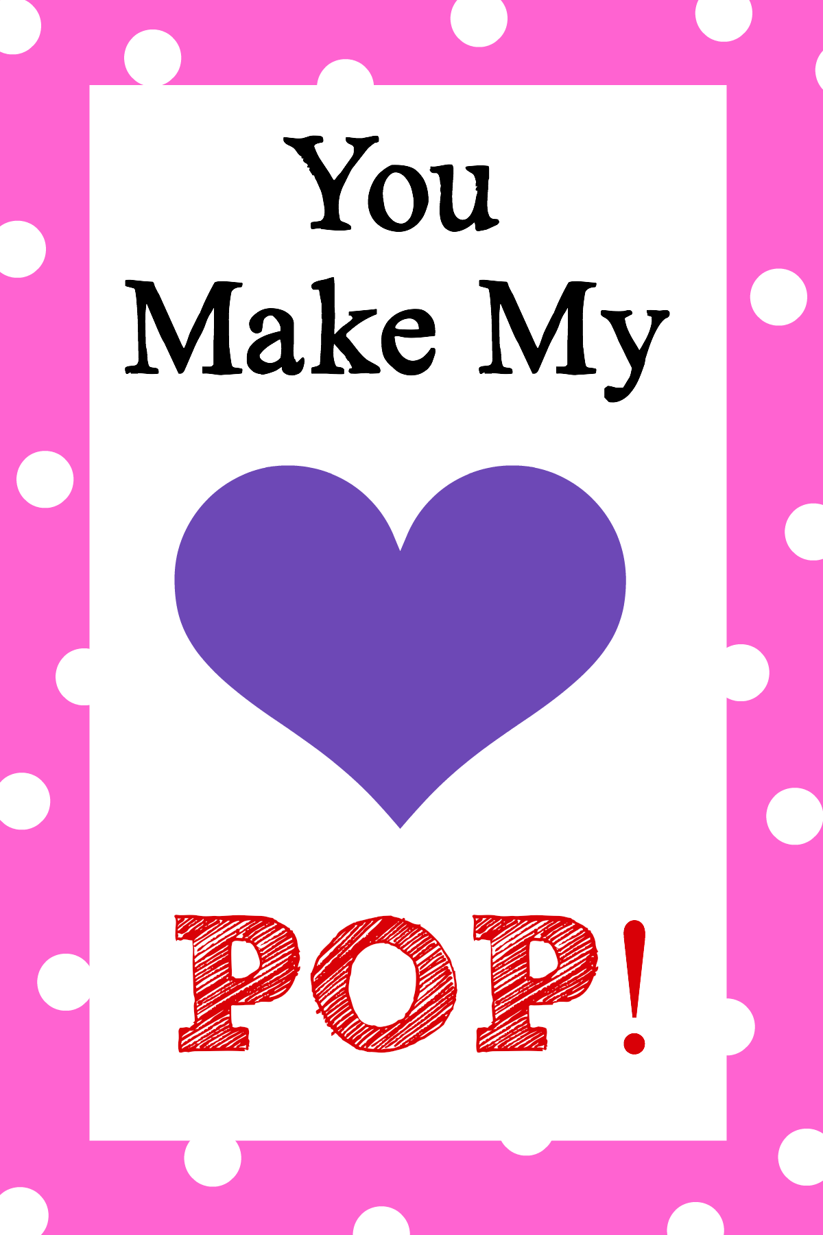 image relating to Popcorn Valentine Printable called Yourself Deliver My Middle Pop! Valentines Thought - Nuts Very little Initiatives