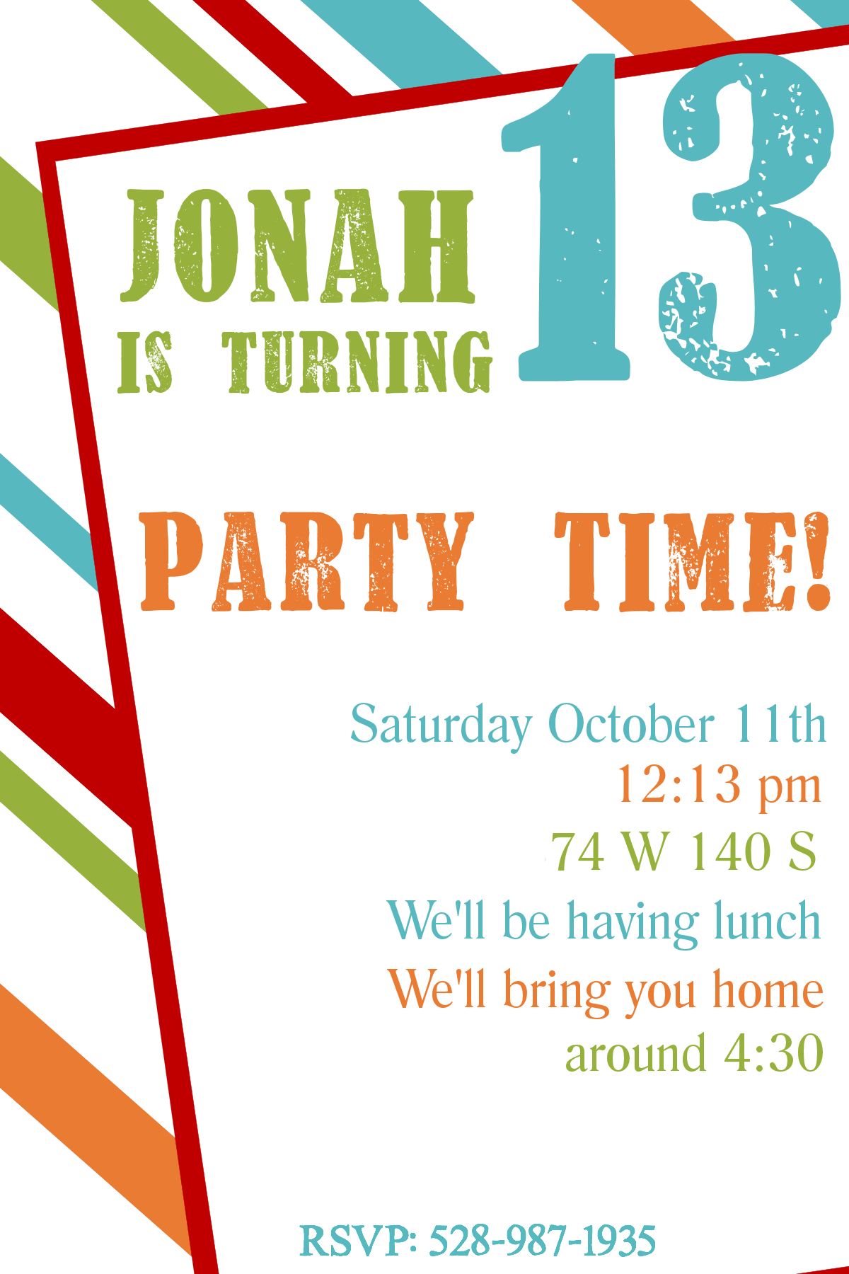 free printable birthday party invitation templates for teenagers - Free Birthday Templates