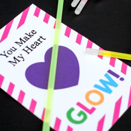 You Make My Heart Glow Valentine's Idea