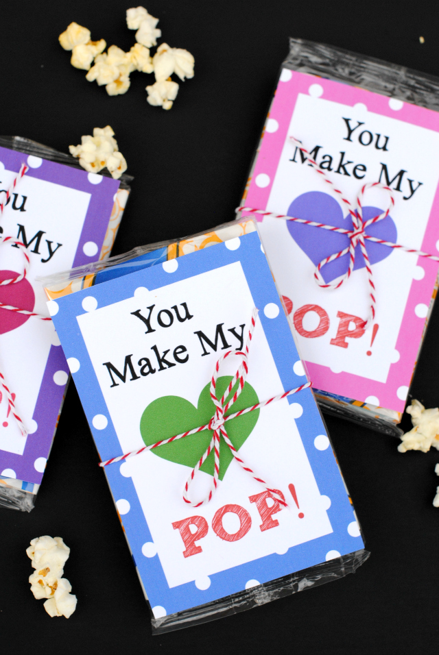 photo relating to You Make My Heart Pop Valentine Printable referred to as Oneself Deliver My Centre Pop! Valentines Concept - Outrageous Minor Tasks