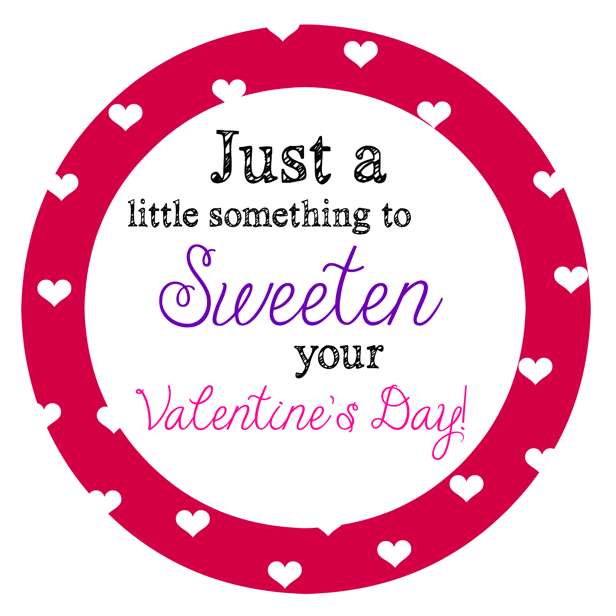 This is a photo of Satisfactory Printable Valentine Tag