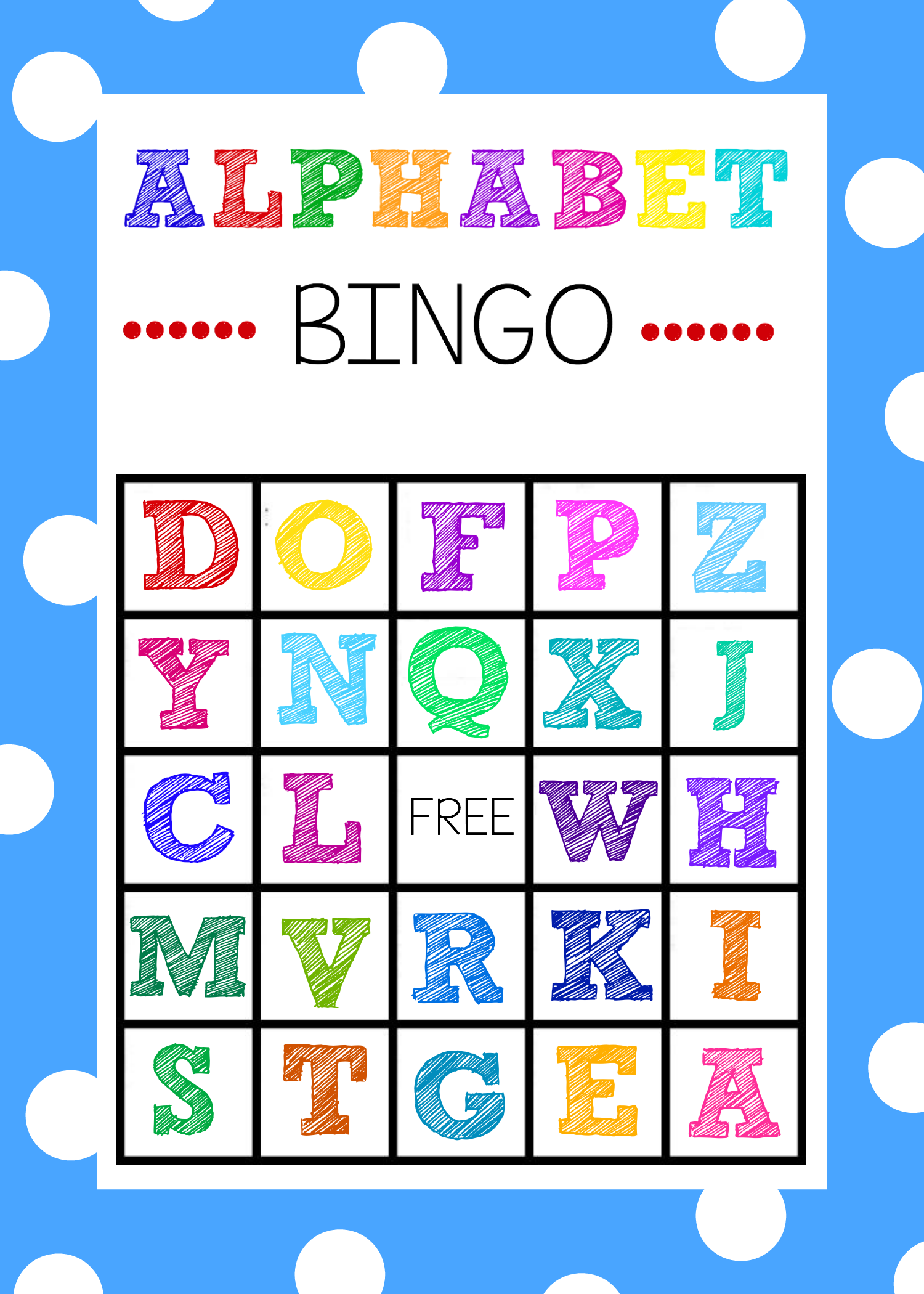 image relating to Abc Cards Printable named Absolutely free Printable Alphabet Bingo Video game