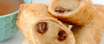 Cookie Dough Egg Rolls-Warm, gooey cookie dough wrapped in a crispy shell. Complete perfection.