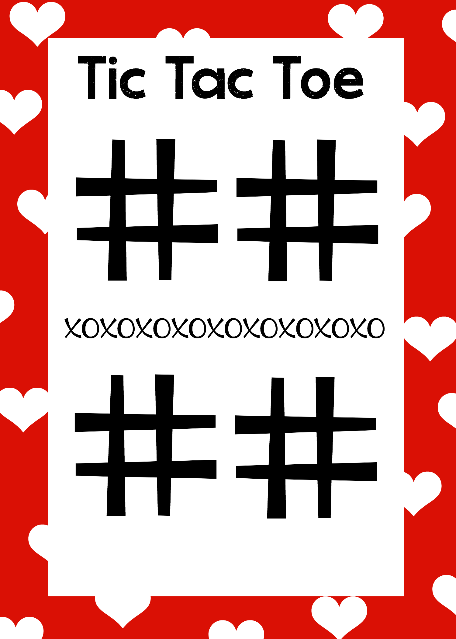 Free Printable Valentines Day Word Search Tic Tac Toe – Tic Tac Toe Template
