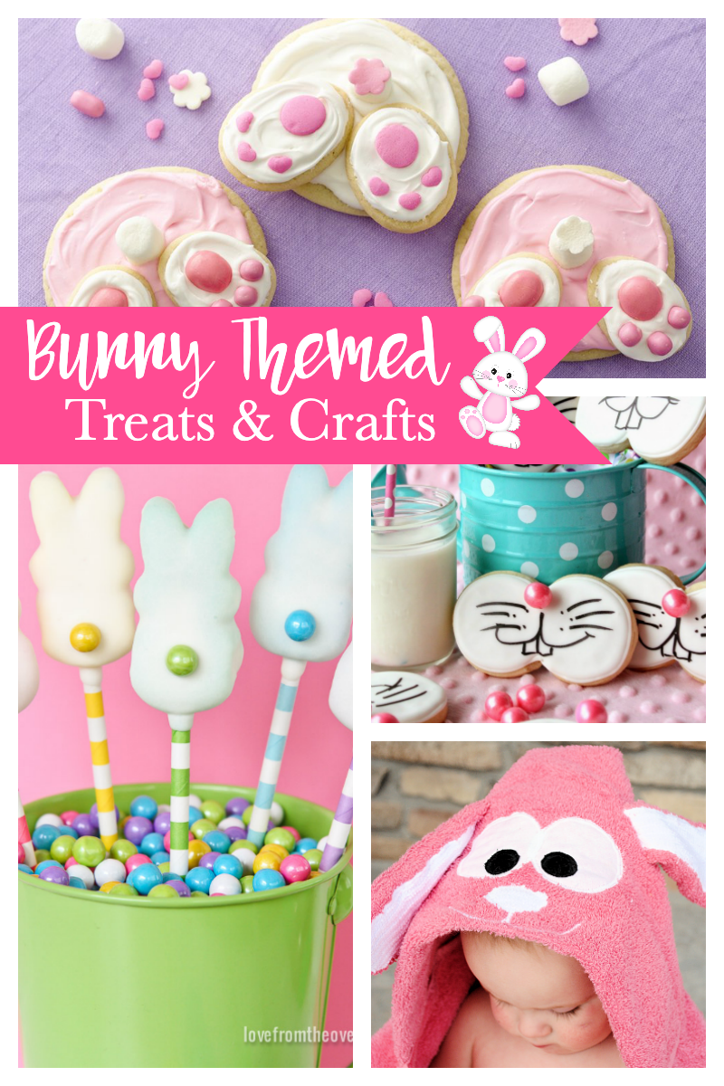 25 Cute Easter Bunny Themed Crafts and Treats-Fun desserts, crafts, favors and more all in bunny shapes. So cute for Easter. #easter #bunny #easterbunny