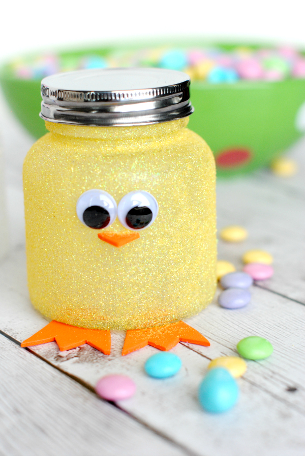 Easter Chick Jar Craft