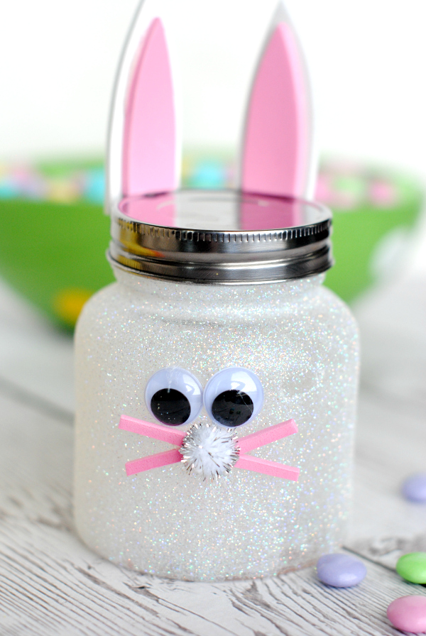 Easter Bunny Candy Jar Craft