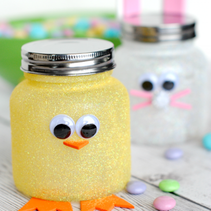 Cute Easter Craft: Easy Easter Candy Jars