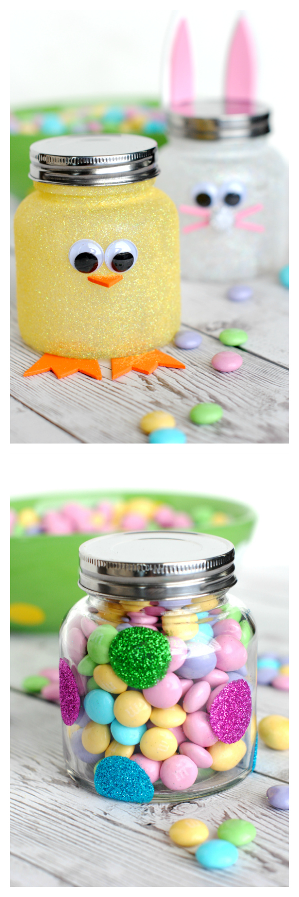 Easter Candy Jars-Cute Easter Craft or Gift to Give a Friend #easter #eastercrafts