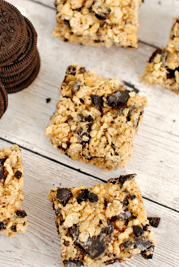 Peanut Butter Oreo Rice Krispy Treats