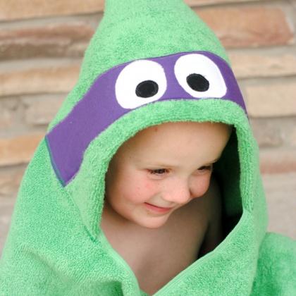 Ninja Turtle Hooded Towel