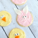 Simple Easter Cookies-Bunny & Chick