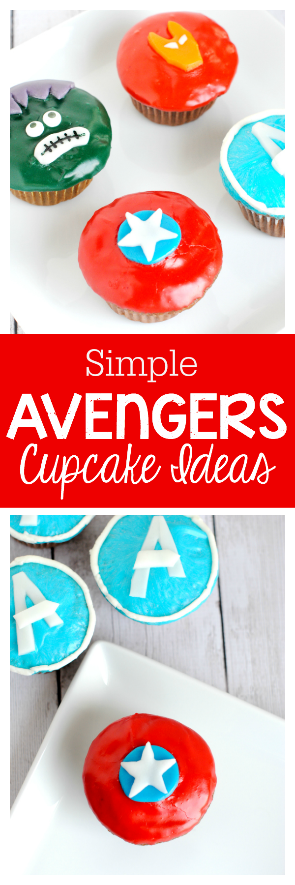 Simple (easy to make!) Avengers Cupcake Ideas
