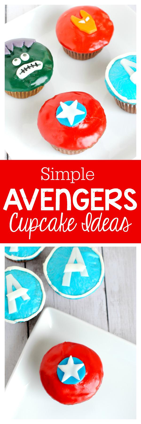 Simple (easy to make!) Avengers Cupcake Ideas
