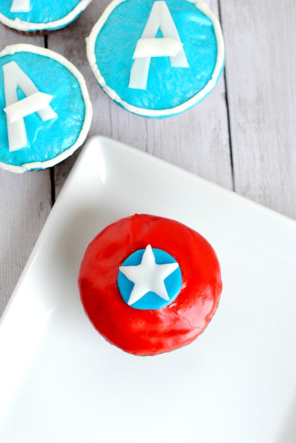 CaptainAmericaCupcake