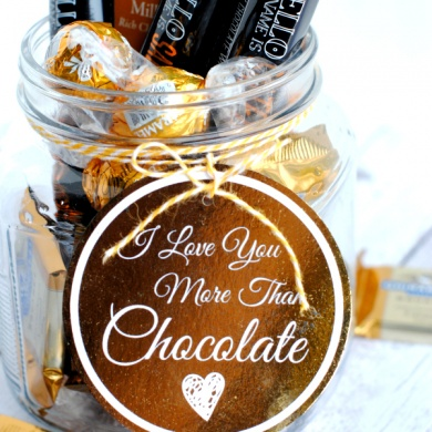 I Love You More Than Chocolate Gift Idea & Tag